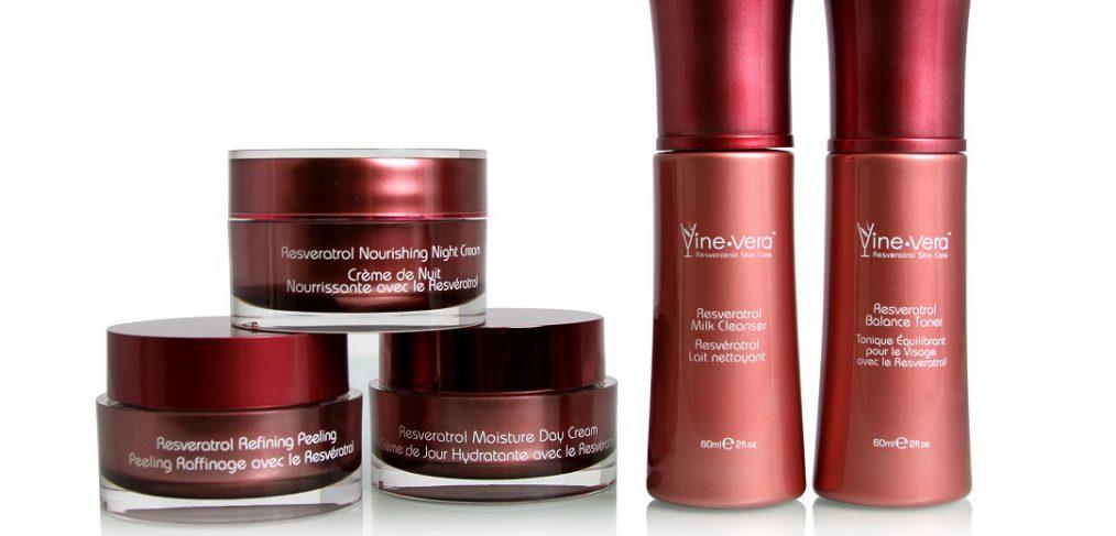 The Resveratrol Merlot Collection from Vine Vera Cosmetics.