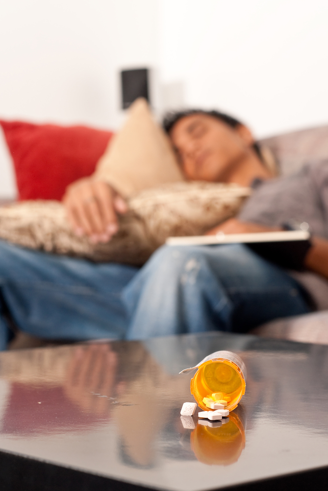 Sleeping after taking a sleep aid