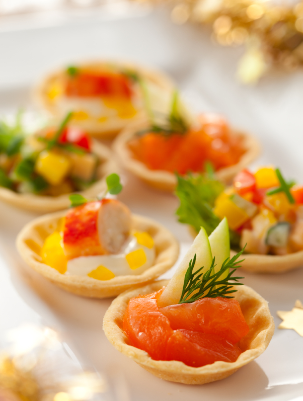 Phyllo dough crab cups