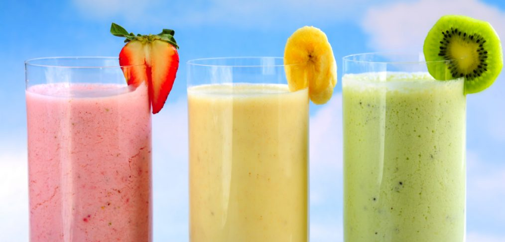 An assortment of detox smoothies