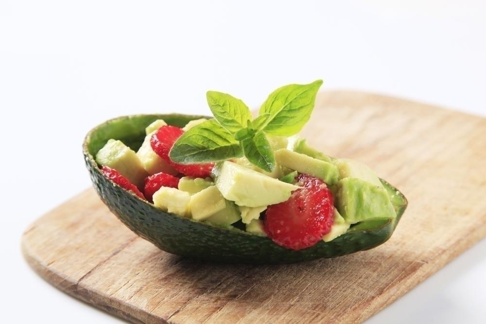 Avocado and Strawberry Salad.