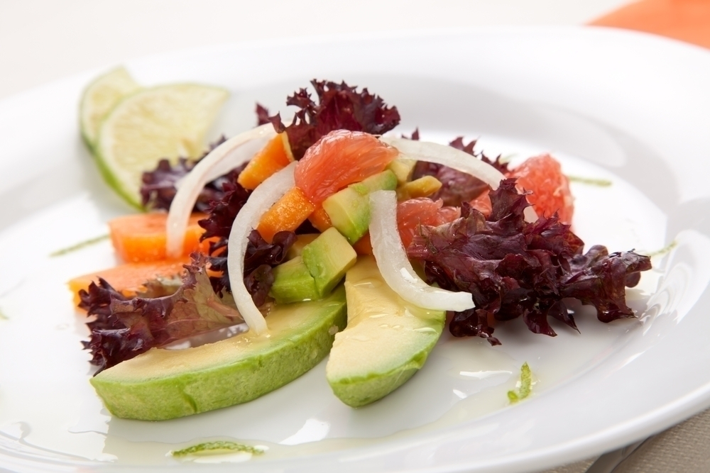 Avocado, Grapefruit and Papaya Salad