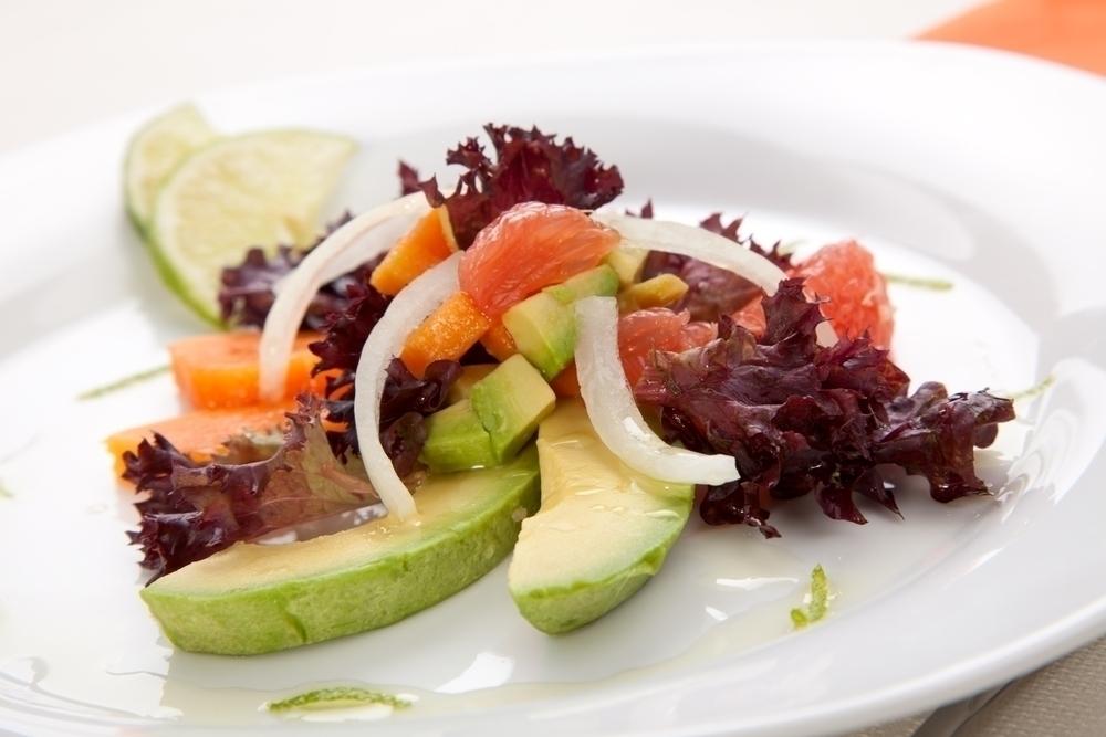 Avocado, Grapefruit and Papaya Salad