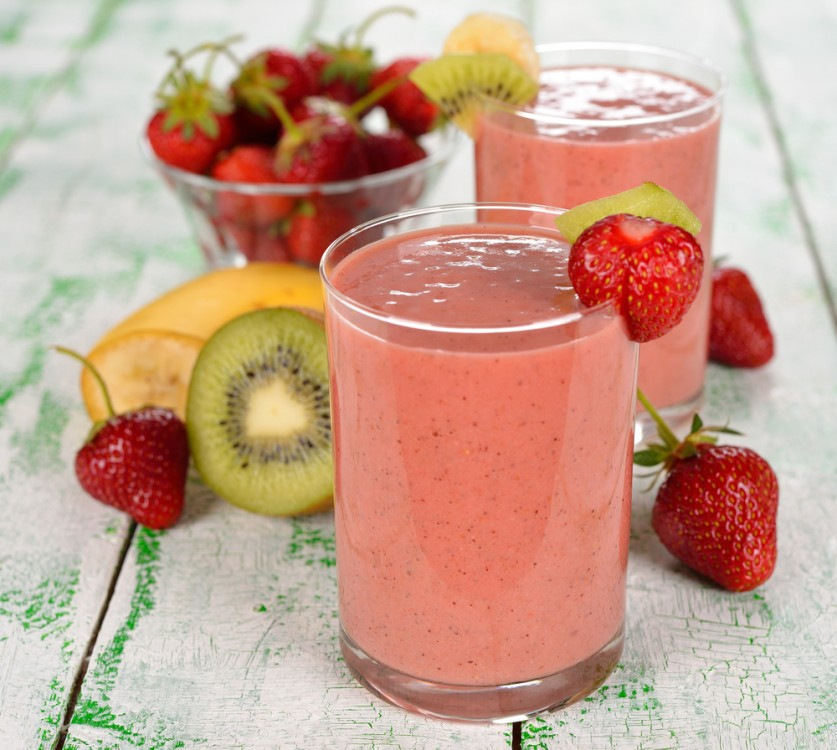 Strawberry Kiwi Smoothie.