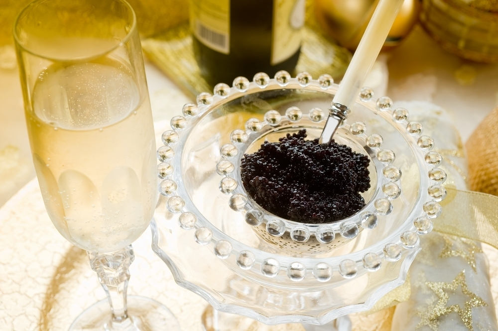Champagne and caviar.