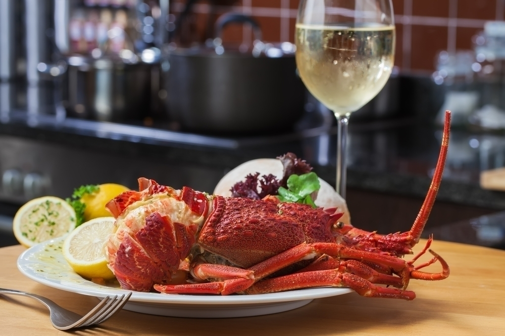 Chardonnay and lobster.