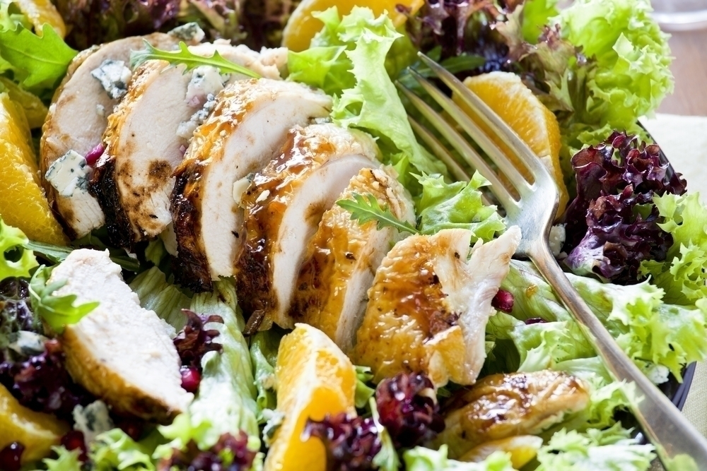 Fruit and Curry Chicken Salad