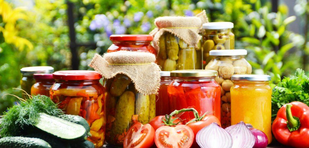 Jars of pickles.