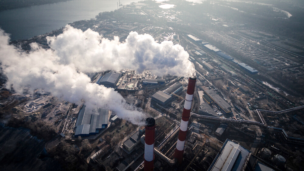 factories releasing harmful smoke into the city