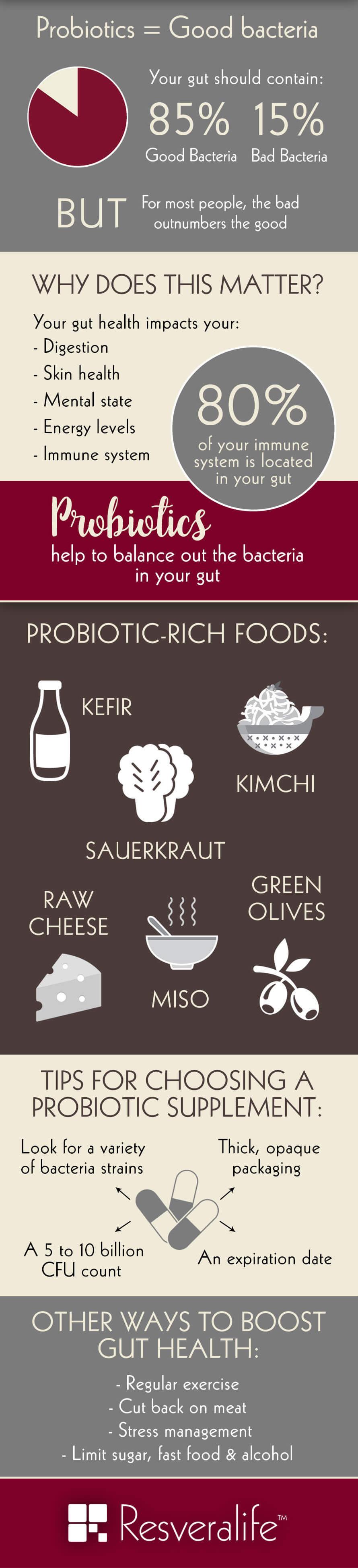 Infographic on probiotics