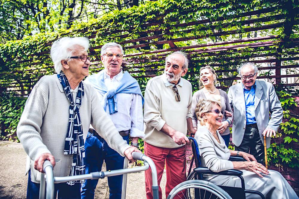 happy senior people