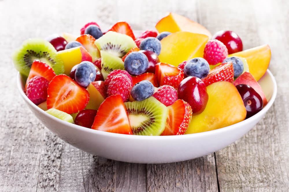 Bowl of assorted fresh fruits