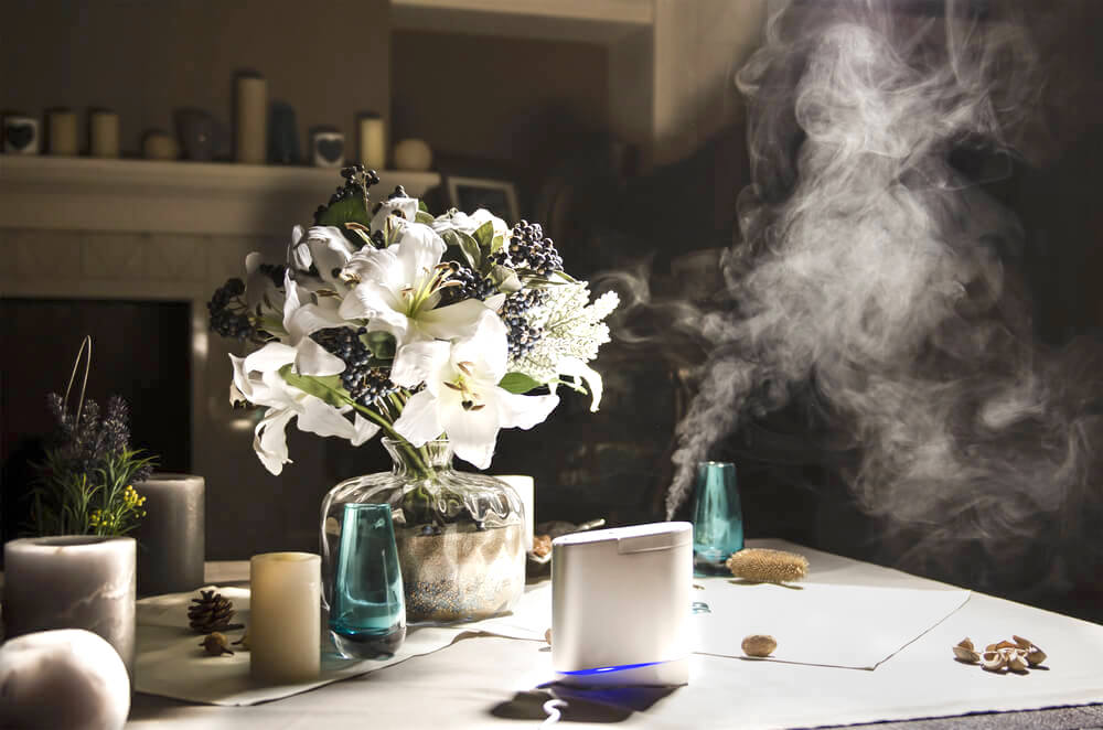 Humidifier on table indoors