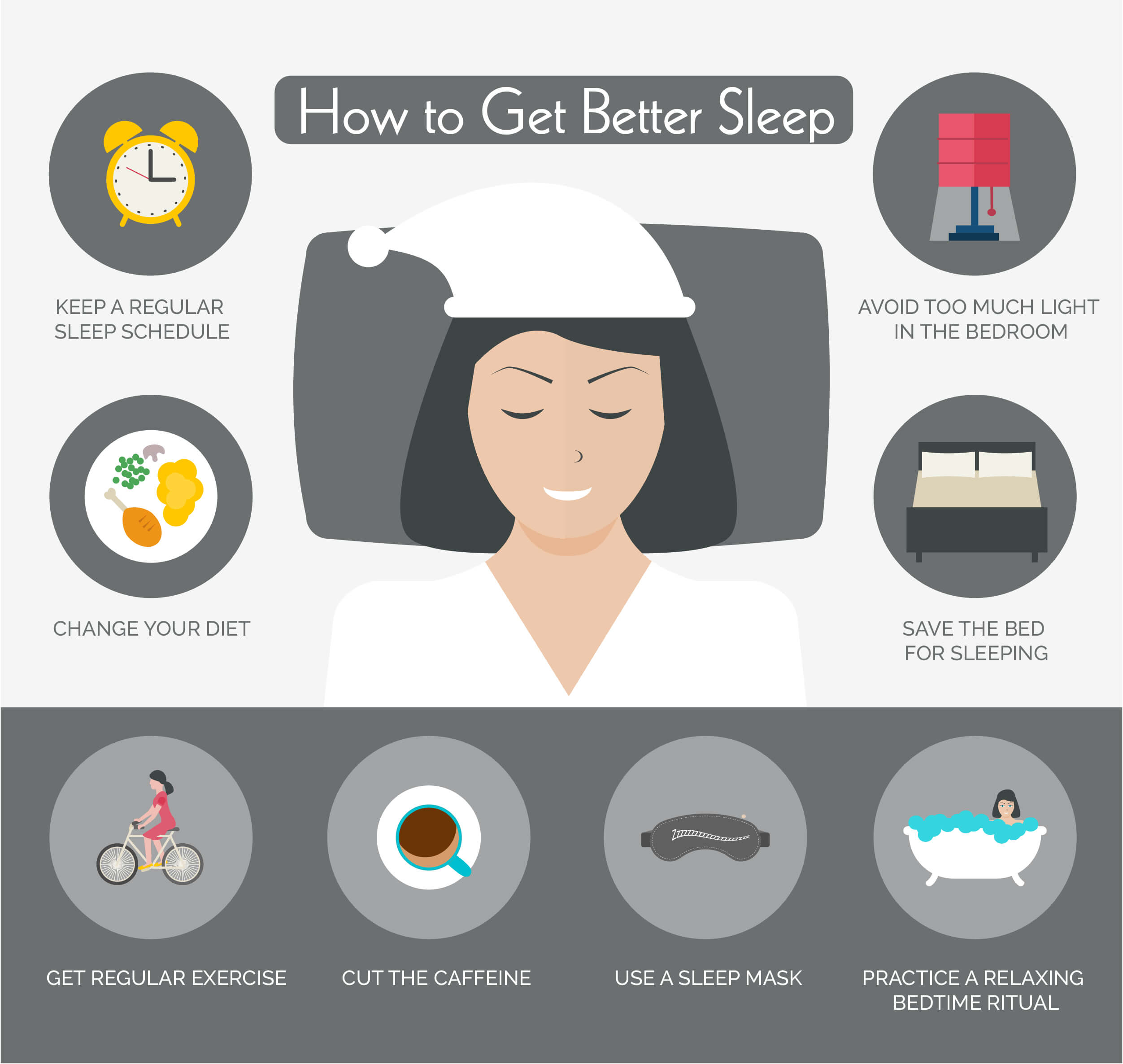 Infographic on how to get better sleep
